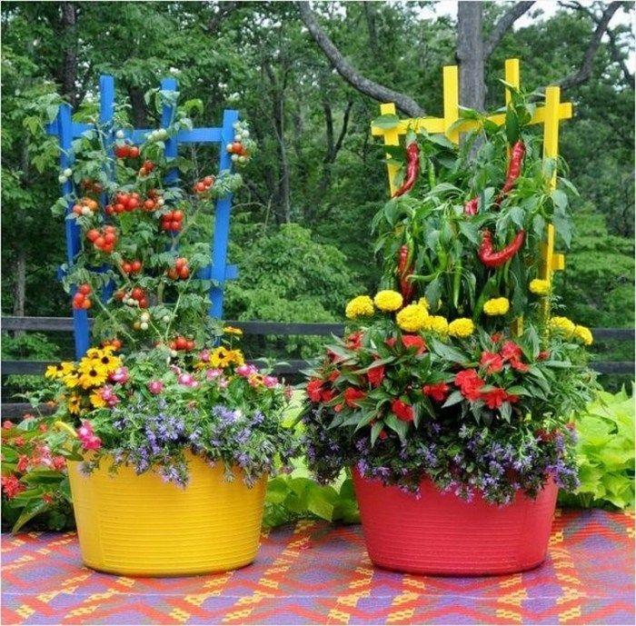 Creative DIY patio ideas for vegetable gardening in pots