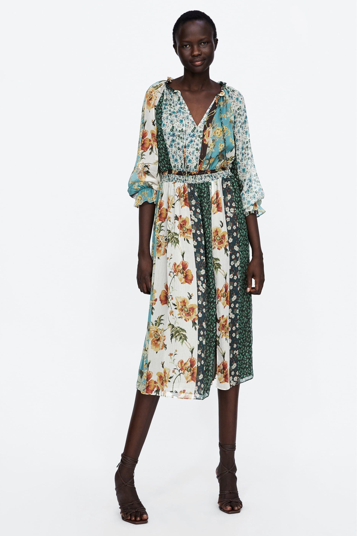 e01d2bfac VESTIDO ESTAMPADO PATCHWORK in 2019 | fashion trend: patchwork ...
