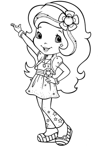 Orange Blossom Coloring page | Strawberry Shortcake | Pinterest ...