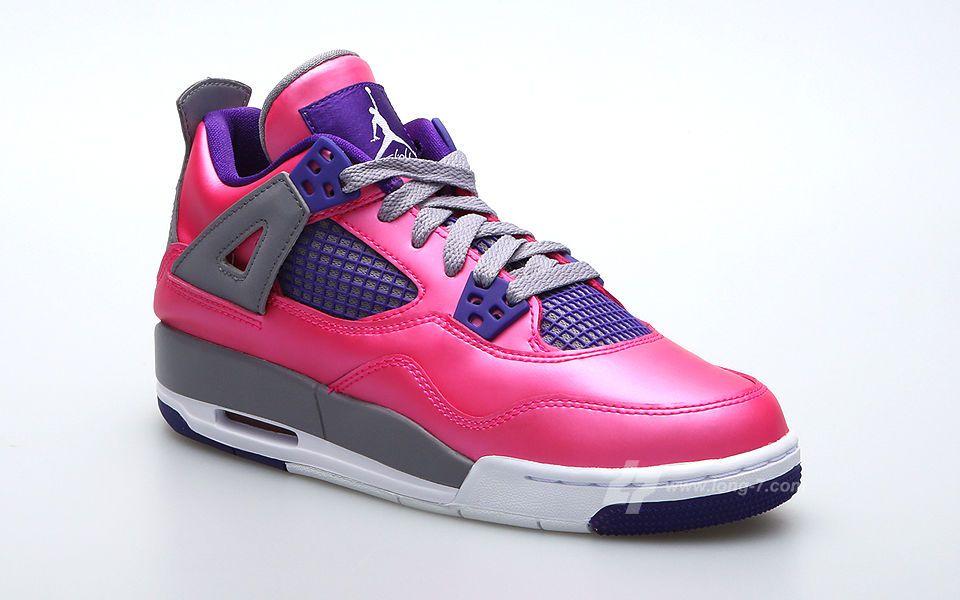 reputable site cd7b8 f4071 4 july jordan   Air Jordan 4 Retro GS Pink Purple-Grey - Release Date    Sneaker Bar .