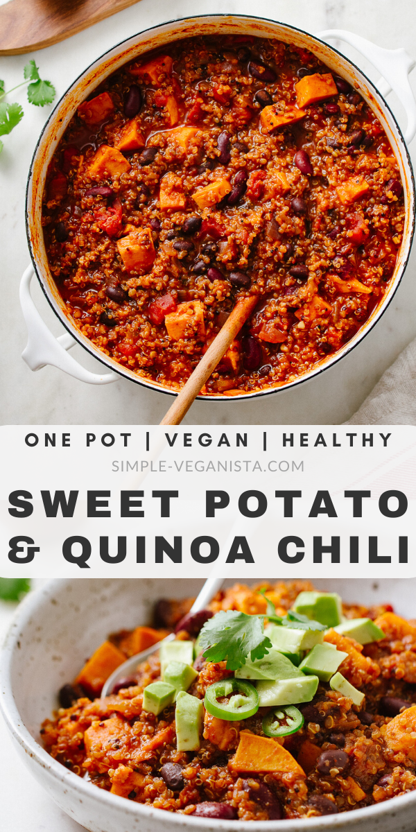 Sweet Potato & Quinoa Chili - Easy One Pot Recipe | Stovetop + Slow Cooker -  Sweet Potato & Quinoa