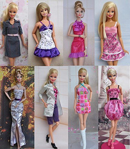 A Set of 2 Dresses We Call Fun and Fancy Made to Fit the Barbie Doll