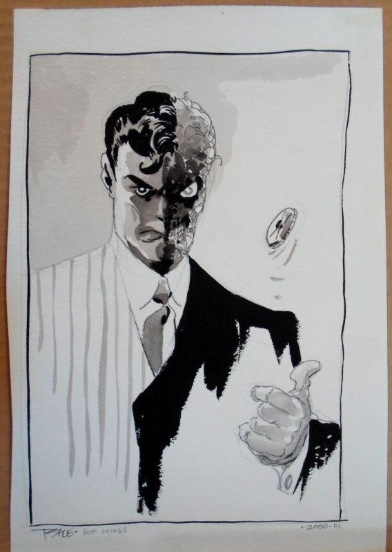 Tim Sale - Two-Face Sketch Comic Art