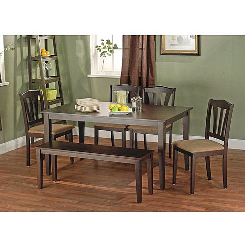 Walmart Metropolitan Dining Set With Bench, Espresso