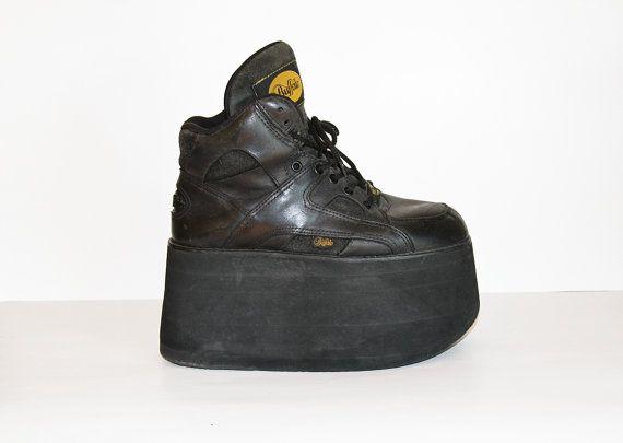 90s Black Buffalo Boots Platform Sneaker | Shoes | Buffalo