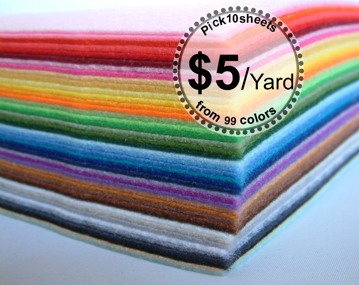Vegan Eco Felt Felt Fabric Felt Diy Felted Wool Crafts