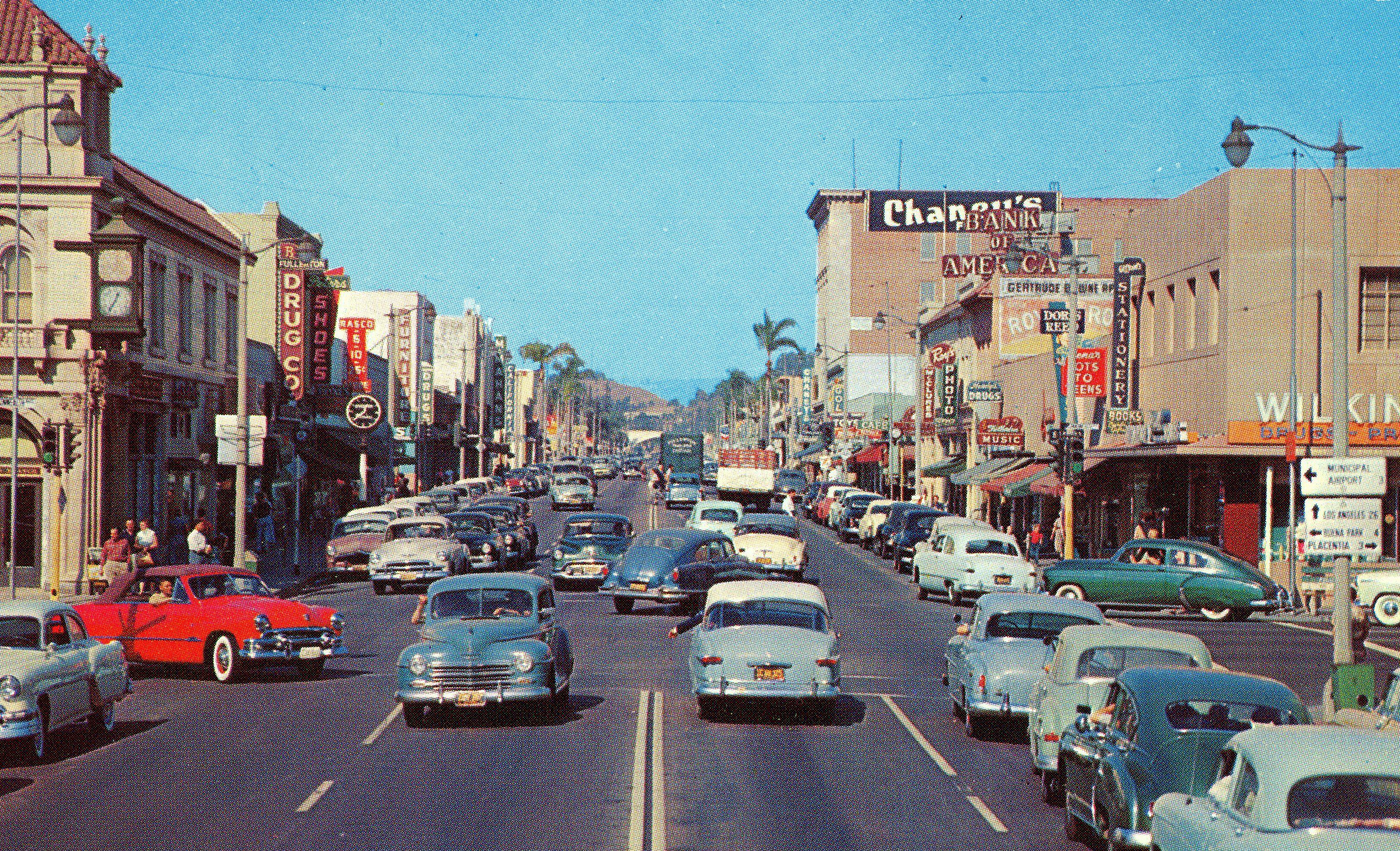 Los Angeles Freeway Signs 1951 Los Angeles Back In-5305