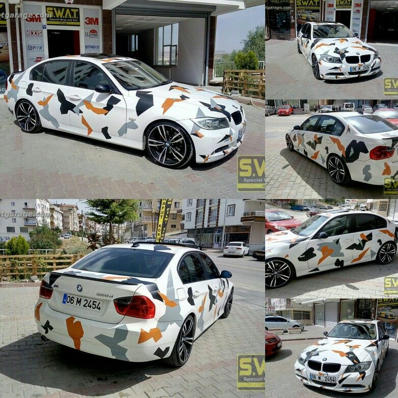 Bmw E90 Camo Design Kamuflaj Folyo Kaplama Ankara Swat