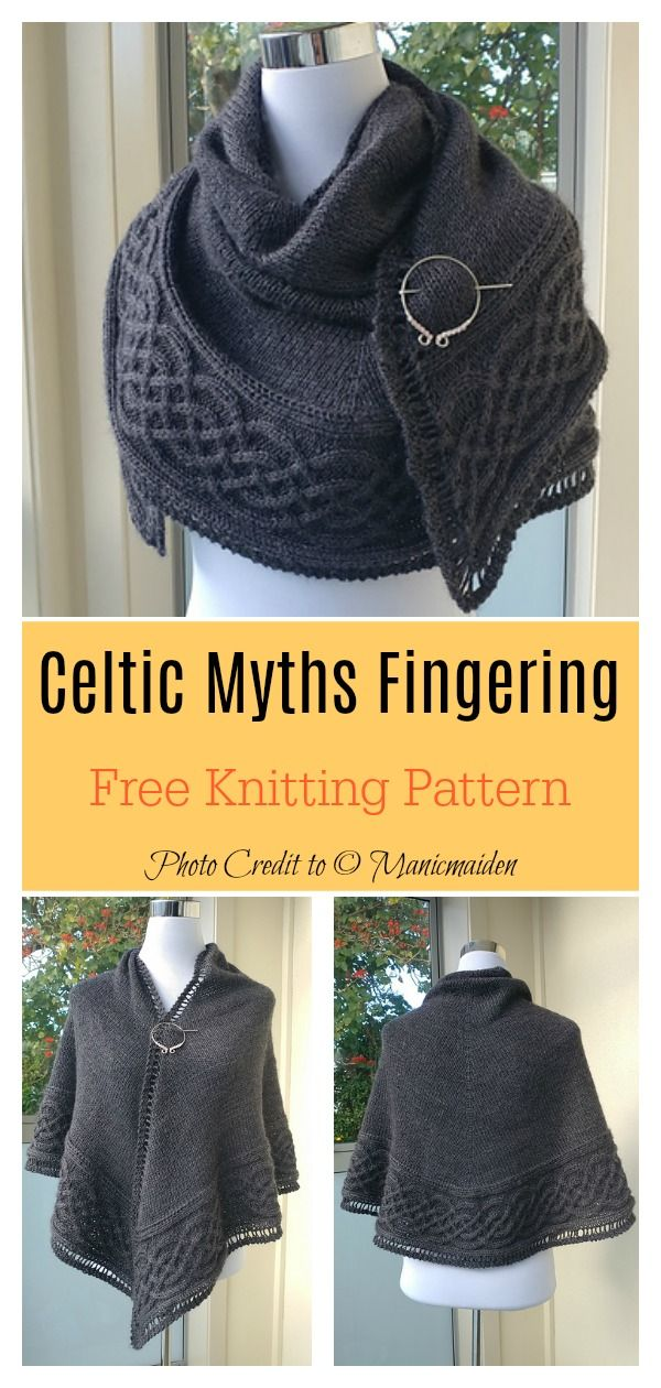 Photo of Celtic Shawl FREE Knitting Pattern