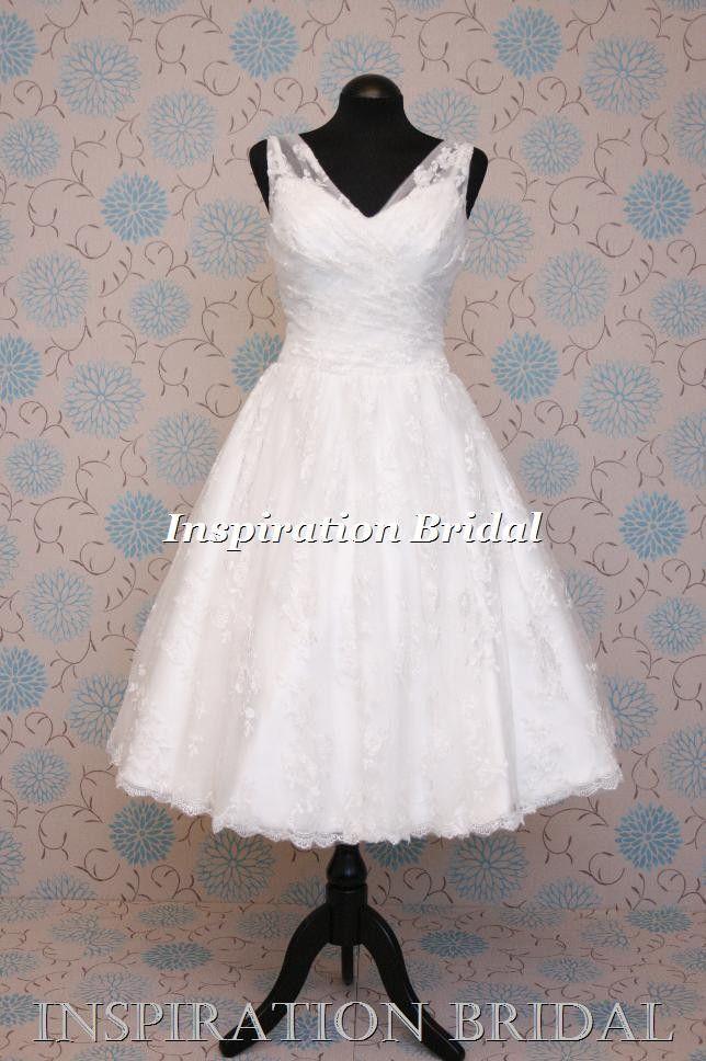 short 50\'s 60\'s vintage lace Cadillac wedding dress 1385 | Short 50s ...