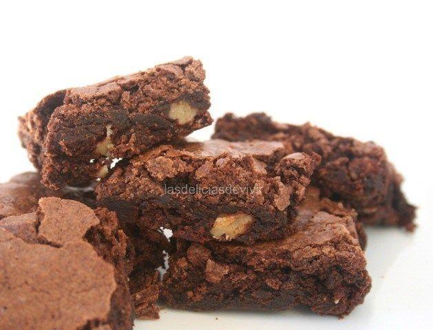 Receta Y Cómo Hacer Brownies Tradicionales Perfectos Como Hacer Brownies Brownies Como Preparar Brownies