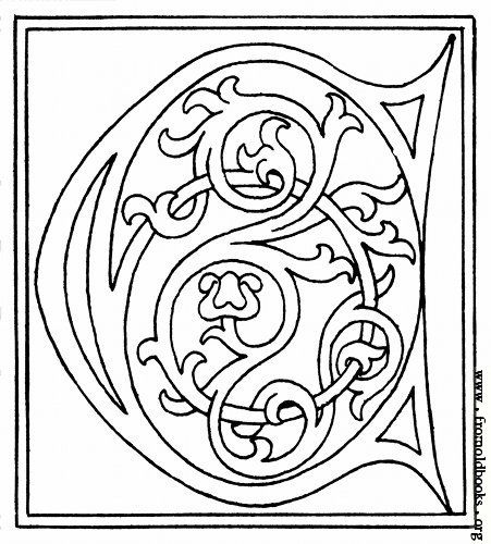 Picture Clipart Initial Letter C From Late 15th Century Printed