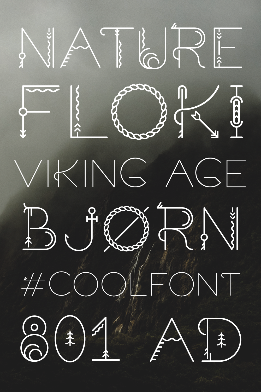 Sacred North Display Font (With images) Old fonts