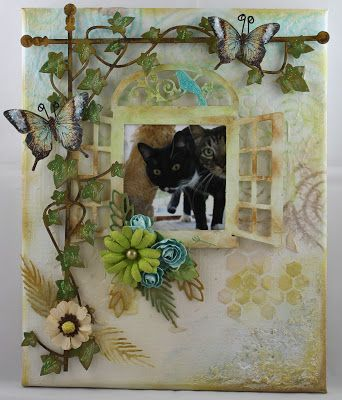 ShelbyDoodle Designs: Mixed Media Photo Canvas