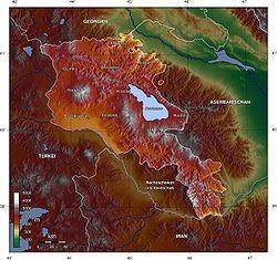 Armenia Wikipedia The Free Encyclopedia Armenia Topography