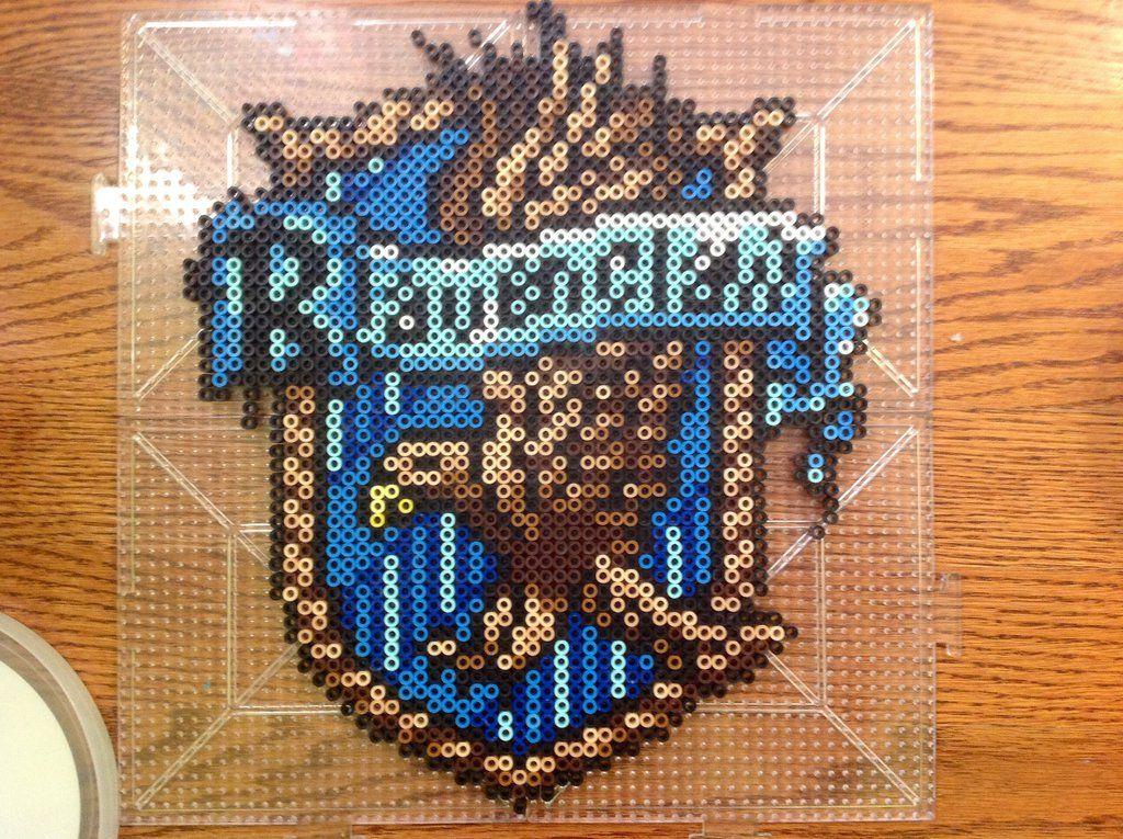 Ravenclaw House Crest Perler By Moonsplashpony On Deviantart Harry Potter Perler Beads Melty Bead Patterns Perler Bead Patterns