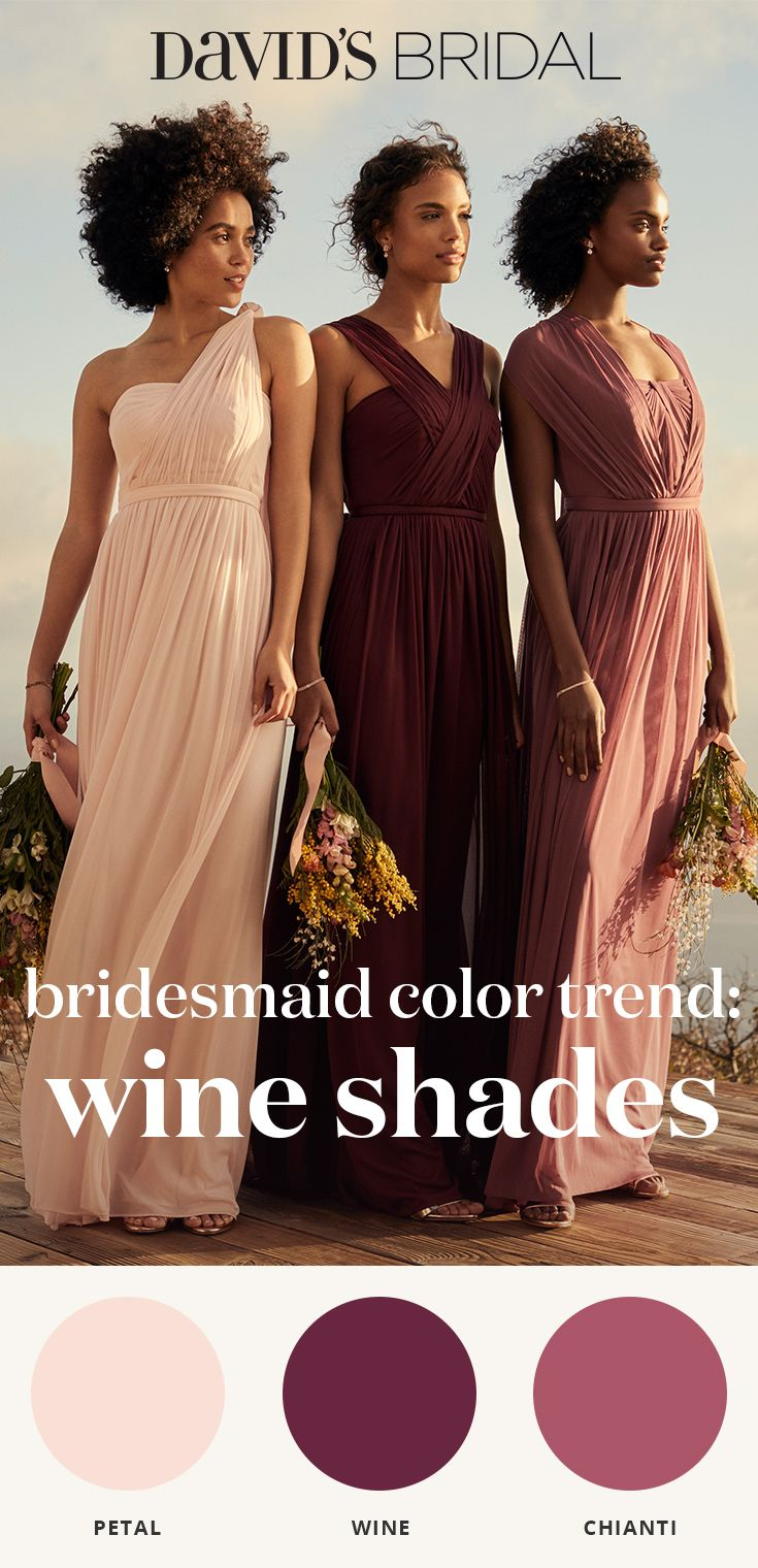 Gorgeous from rosé to merlot create your palette of winecolored