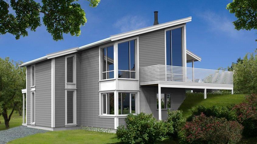 hus vesuvian moderne ferdighus fra hiba hus hiba hus - Moderne Huser 2015