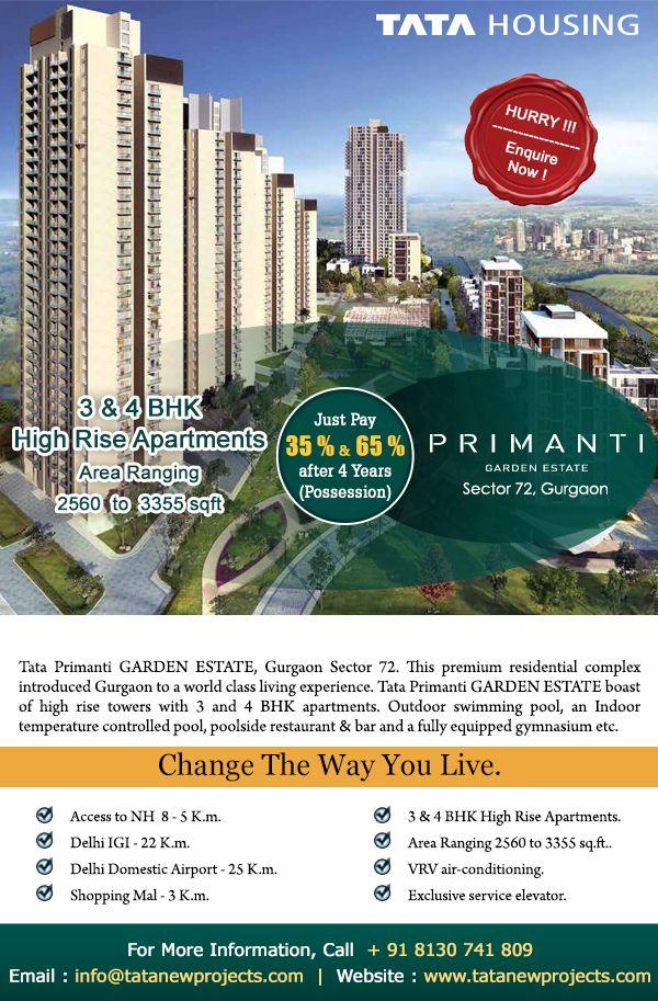 Tata Primanti Garden Estate - 36 acres residential development ...