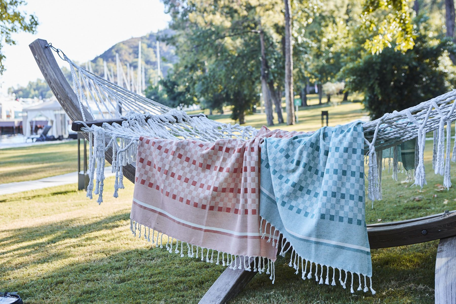 Celebrate this summer with Chess Turkish Picnic Blankets. These perfect Picnic Blankets are great for your joyful outdoor activities and can be used as a throw or a beach towel as well.