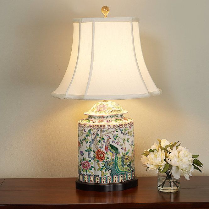 Peacock Porcelain Table Lamp Table Lamp Shades Lamp