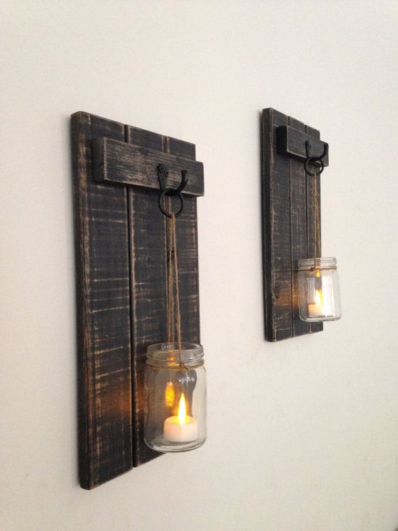 Rustic Wall Sconce Wooden Candle Holder Mason Jar Candle Holder Wooden Wall Sconce Rustic Decor W Wooden Candle Holders Rustic Wall Sconces Wooden Candles