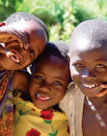 Happy African Children while doing missionary work
