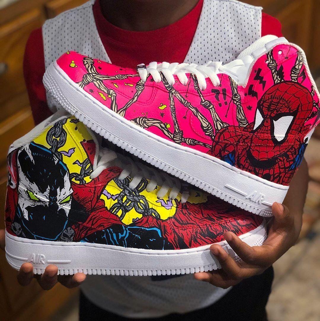 Custom sneakers Nike Air Force 1 ''Spiderman''