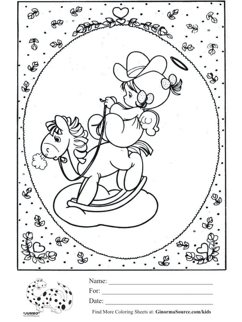 precious moments coloring pages cow - photo#8