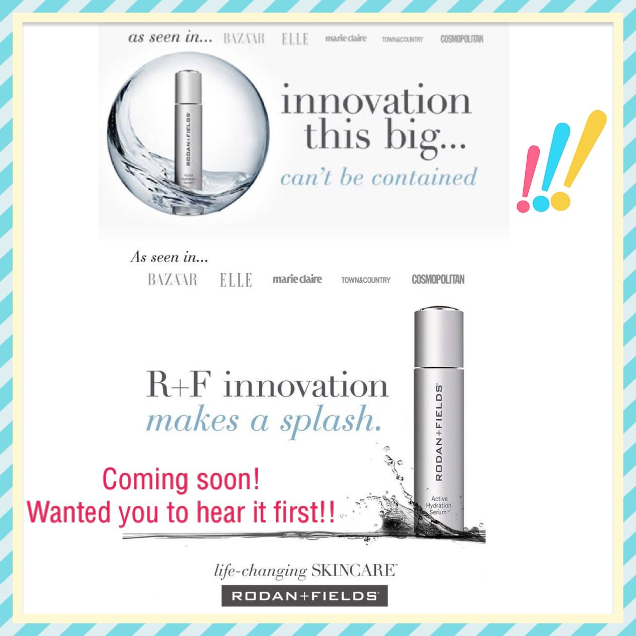 *Active Hydration serum* coming soon from Rodan and