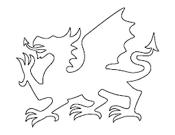 Welsh Flag Template Welsh Dragon Dragon Pattern Dragon Coloring Page
