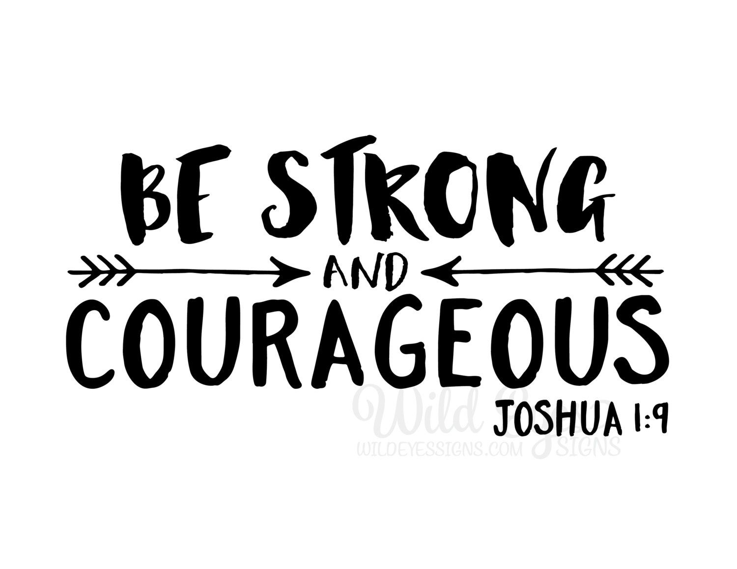 Be strong and courageous explorer nursery arrows tribal for Joshua 1 9 tattoo