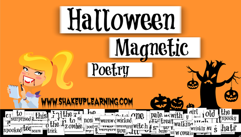 halloween magnetic poetry with google drawings shakeuplearningcom gafe googleedu gafesummit edtech