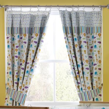 Kids Jungle Time Blackout Pencil Pleat Curtains Dunelm Mill
