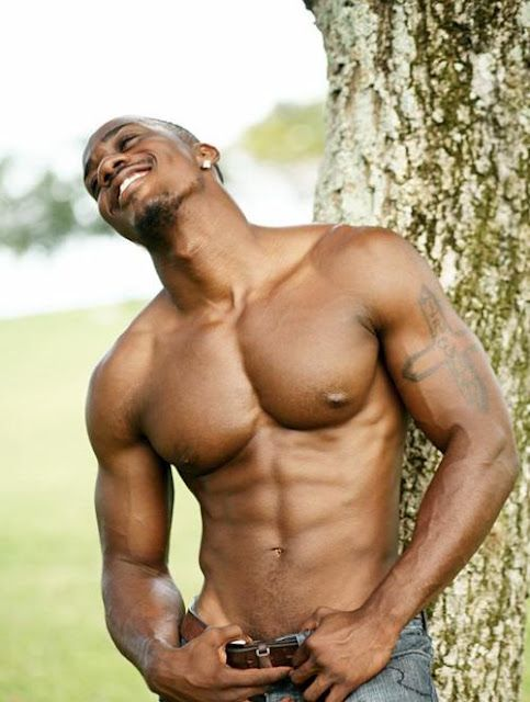 Bare chested black men your