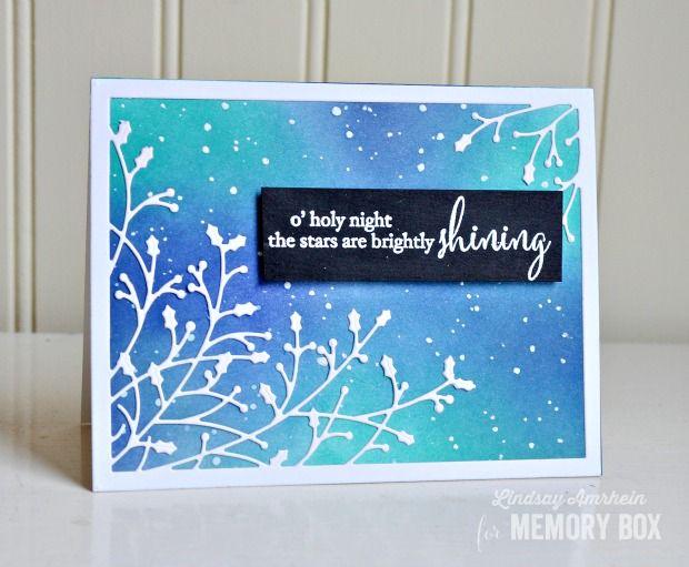 Holiday card by Memory Box designer Lindsay Amrhein
