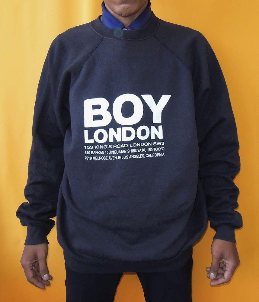 Boy London Sweater 90s Vintage Pullover Designer Sweatshirt Etsy Designer Sweatshirts Cotton Sweatshirts Vintage Pullovers [ 1000 x 858 Pixel ]