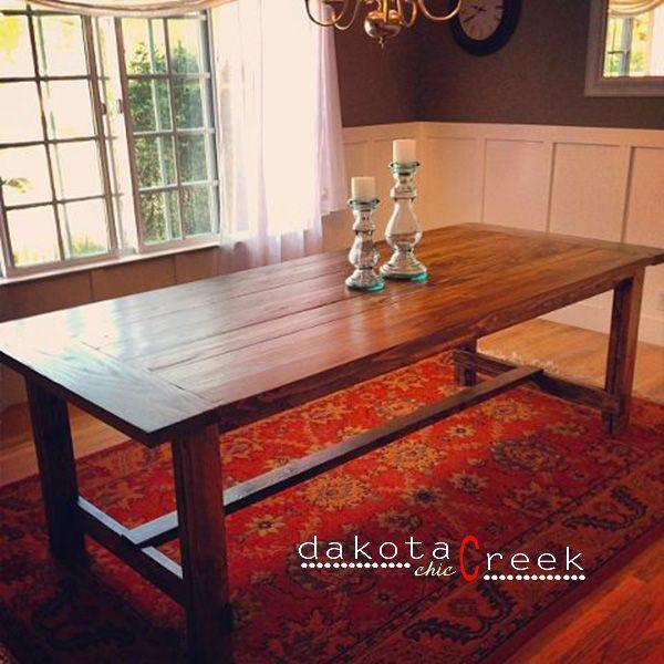 DIY Restoration Hardware Inspired Farmhouse Dining Table