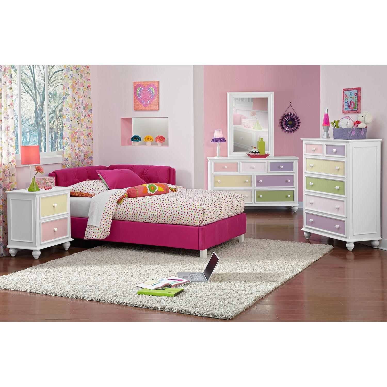 Jordan Full Corner Bed | American Signature Furniture