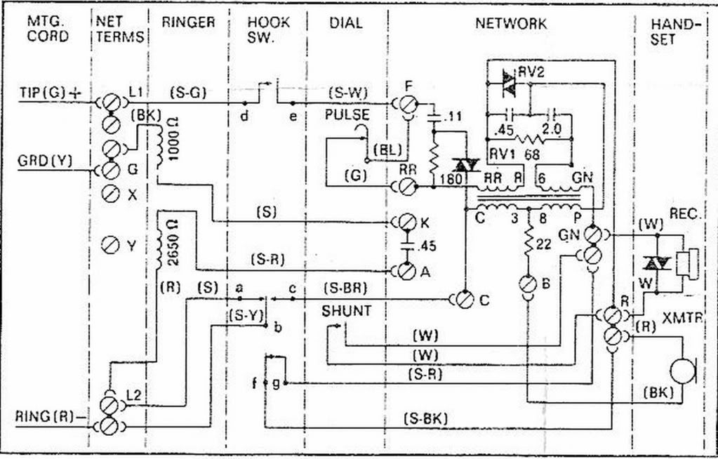 Wiring Diagram Telephone Drawing Telephone Diagram