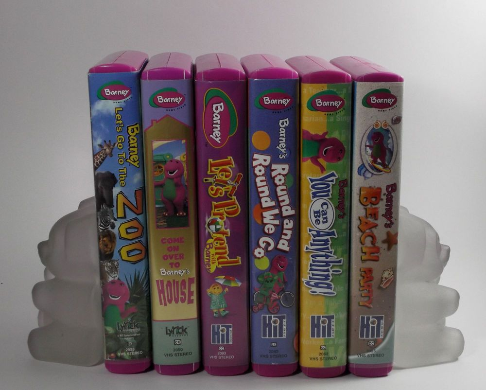 Barney VHS Rhyme Time Rhythm Mother Goose Brian39s Boutique