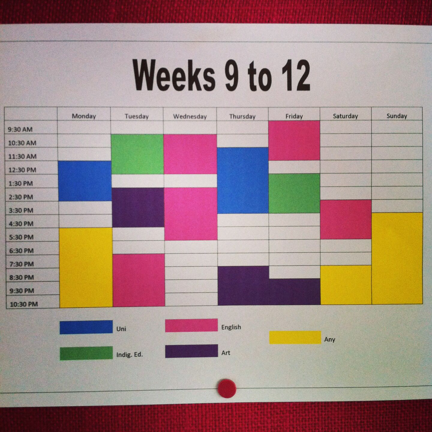 My Personal Timetable For University Studies Timetables Are A Fantastic Tool To Keep Organised University Timetable University Studying Study