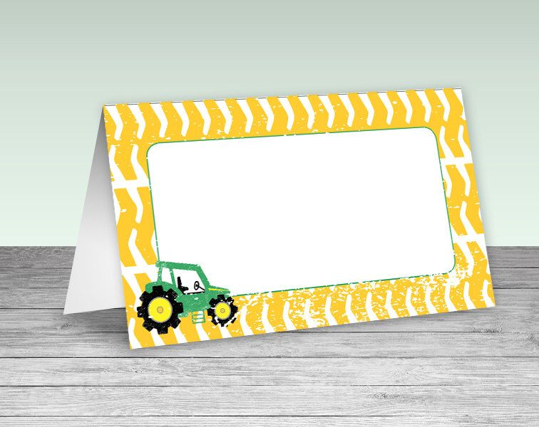 John Deere Tractor Theme Instant Downloadable Graphics - 2-up Foldable Table Tent Labels  sc 1 st  Pinterest & John Deere Tractor Theme Instant Downloadable Graphics - 2-up ...