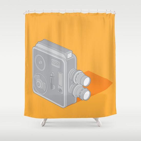 Meopta Camera Shower Curtain  #cinema #cine #illustration #homedecor #meopta #society6