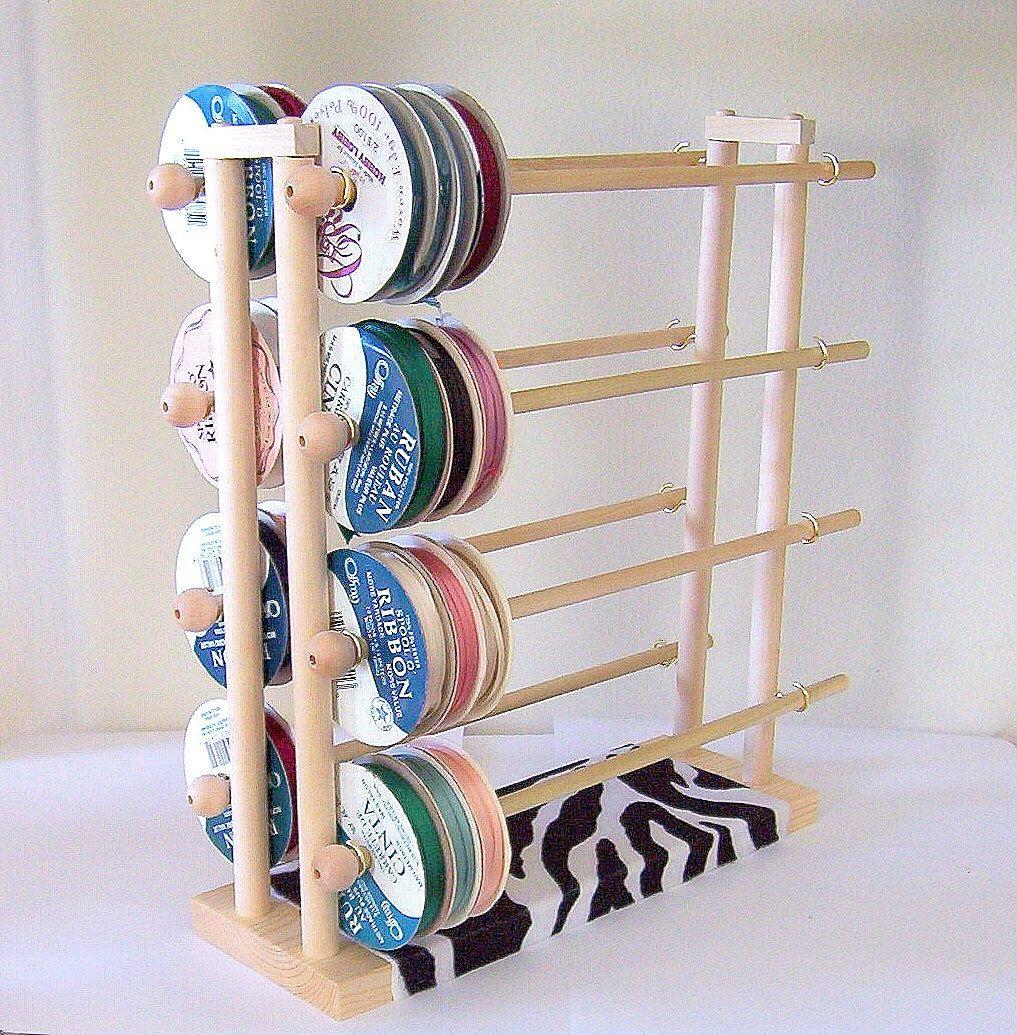 Super Ribbon Spool Holder Wire Dispenser Storage Rack Organizer