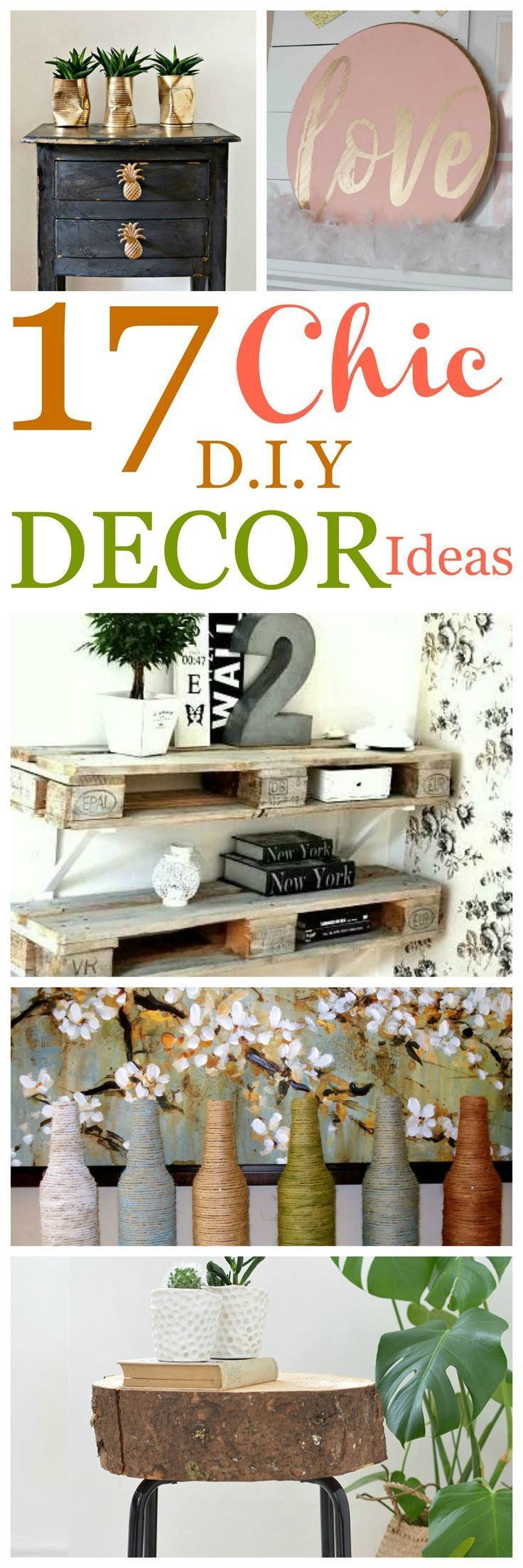 Living Room Decor Trends 2018: 17 DIY Home Crafty Decor Ideas