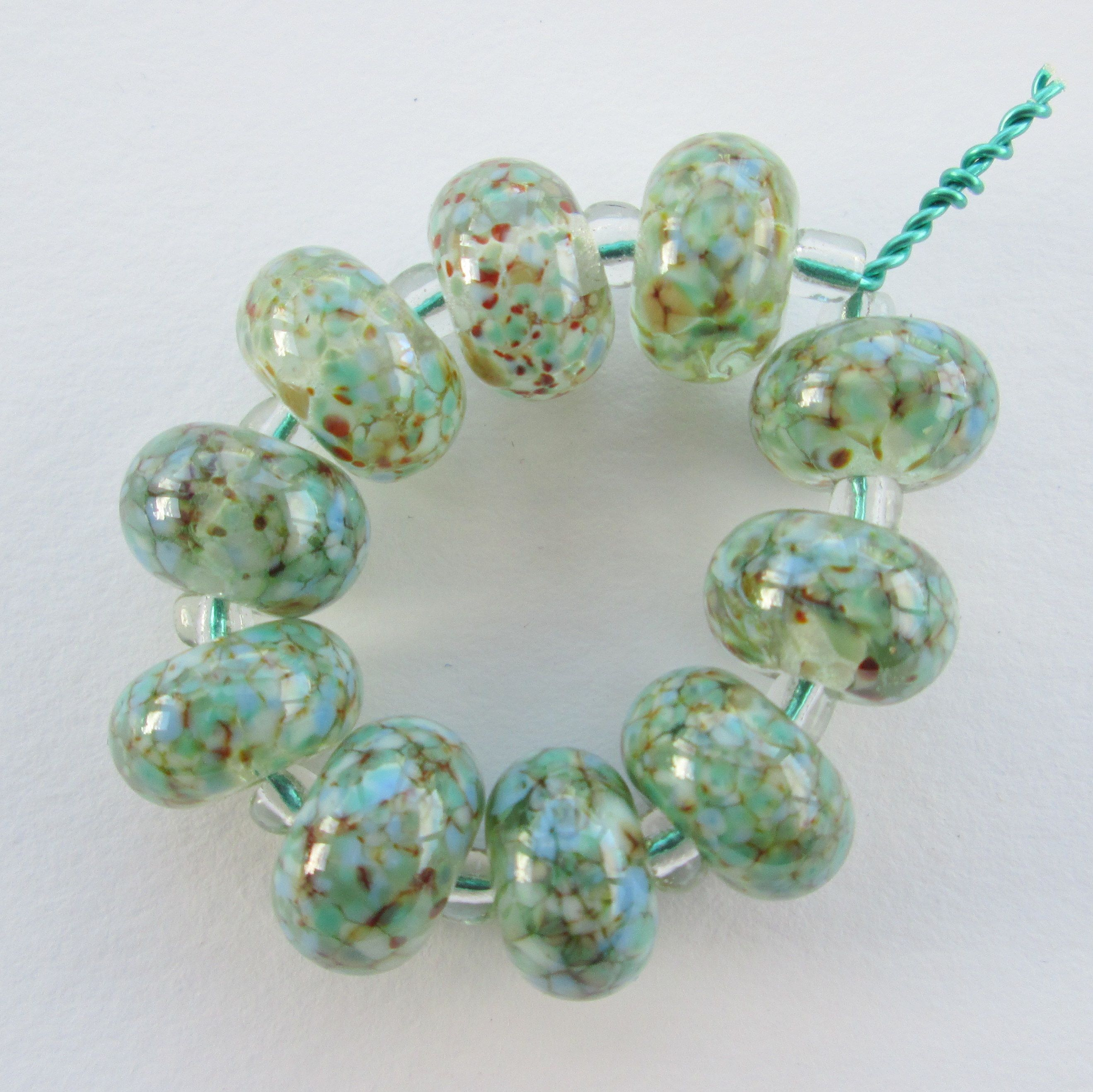 Soon be Spring!  - all my beads are handmade by me in my North Somerset studio, and available for sale.  Enquiries welcome