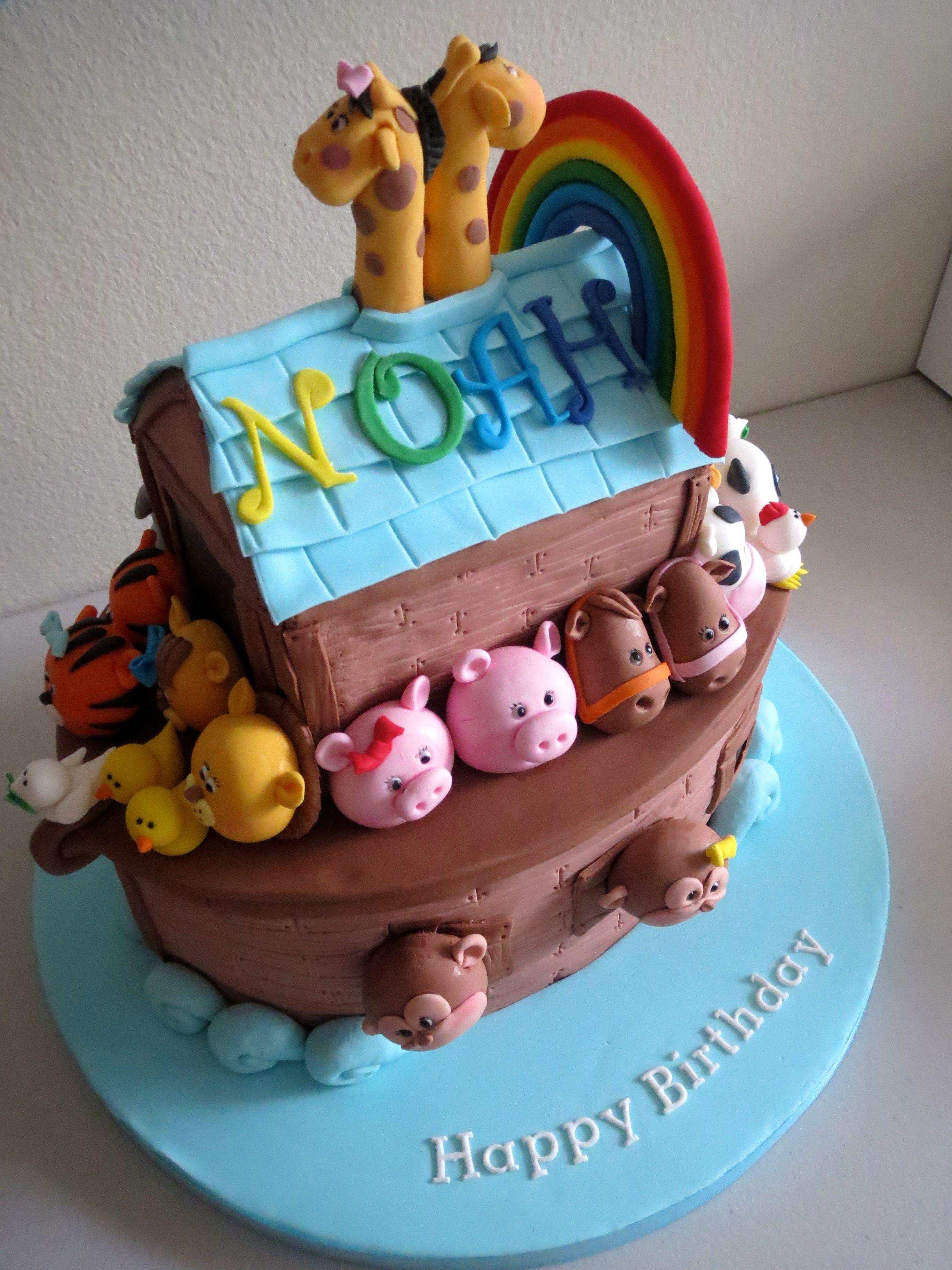 Sweet Cake Ark : sweet, Noah's, Rainbow, Satoko, Http://cake.likebutterent.com, Noahs, Cake,