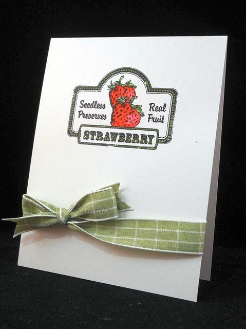Strawberry CAS card by Jennifer Ingle