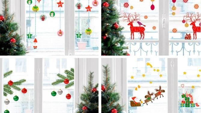 Decoración de ventanas para Navidad puertas y ventanas en navidad